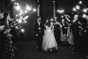 reception, send-off, sparklers